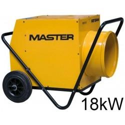 Tun de caldura electric B18 EPR MASTER, putere calorica 18kW, tensiune 400V, debit 1700mcb