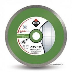 Disc diamantat CSV 125 PRO RUBI, 125/22.2mm, gresie/faianta portelanata
