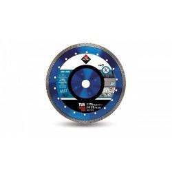 Disc diamantat TVA 115 SUPERPRO RUBI, 115/22.2mm, granit, clinker, caramida refractara, gresie portelanata dura