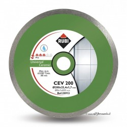 Disc diamantat CEV 200 PRO, 200/25.4mm, gresie/faianta portelanata