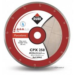 Disc diamantat CPX 250 PRO RUBI, 250/25.4mm, gresie/faianta portelanata