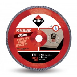 Disc diamantat TPI 200 SUPERPRO RUBI, 200/25.4mm, gresie portelanata