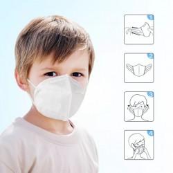 Set 10 buc. Masca respiratoare PENTRU COPII,antivirus,clasa KN95/N95 (FFP2),4 straturi FPP2,set 10 buc,LIVRARE RAPIDA DIN STOC !