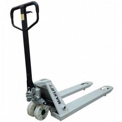 Transpalet manual TM25-E PA MAXLIFT cu roti din poliamida,  capacitate de ridicare 2500kg