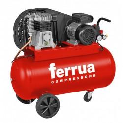 Compresor de aer FB28B-100 CM3 FERRUA,  debit aer aspirat 330 l/min,  capacitate butelie 100 L,  presiune 10bar,  alimentare 230V