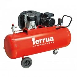 Compresor de aer FB28B-200 CM3 FERRUA,  debit aer aspirat 330 l/min,  capacitate butelie 200 L,  presiune 10bar,  alimentare 230V