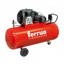 Compresor de aer FB38B-200 CT4 FERRUA,  debit aer aspirat 480 l/min,  capacitate butelie 200 L,  presiune 10bar,  alimentare 400V