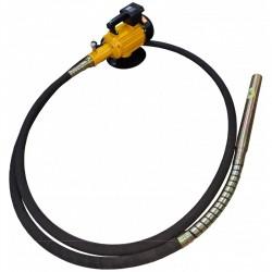 Vibrator beton MVE-2 STRONG cu ax flexibil de imersie MVS de 6m cu cap de vibrare 50mm si alimentare 230V