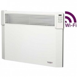 Convector electric de perete, TESY CN 04 250 EIS CLOUD W, cu termostat electronic si modul WI-FI incorporat, putere 2500W