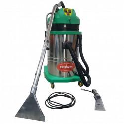 Aspirator cu injectie si extractie apa AC-602CS SWISSVAC,  2 motoare,  putere 2000W,  tensiune 230V,  cuva inox fixa 60 litri
