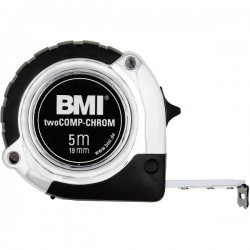 Ruleta BMI twoCOMP-CHROM,  lungime banda 5m,  latime banda 19mm