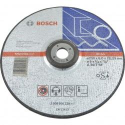 Disc polizare otel EXPERT 230x22.2x6.0mm,  profil convex,  BOSCH,  2608600228