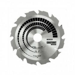 Panza circular Construct BOSCH,  160x2.6x20/16mm,  12 dinti Z,  2608640630