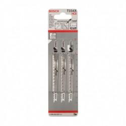 Set 3 panze pentru fierastrau pendular T234X Progressor for Wood,  BOSCH,  2608633523