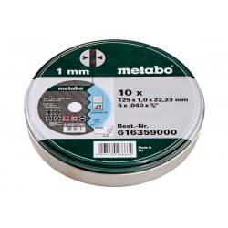 Set 10 discuri taiere otel/inox 125x22.2x1.0mm,  METABO,  616359000