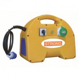 Convertizor electric STRONG SK1M,  alimentare 230V,  putere 1kVA,  curent debitat 11A,  1 priza,  carcasa plastic