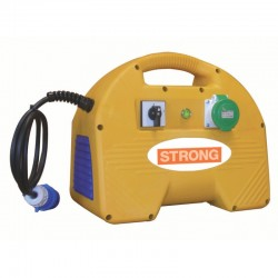 Convertizor electric STRONG SK1.5M,  alimentare 230V,  putere 1.5kVA,  curent debitat 18A,  2prize carcasa plastic