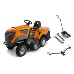 Tractoras de tuns gazon cu autopropulsie,  O-Mac TG20000,  putere motor 20CP,  latime taiere 102cm