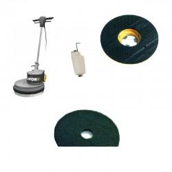 Monodisc SDM-R 45G 16.6-130 LAVOR,  cu pad pt curatarea straturilor de ceara,  murdarie si marcaje de beton,  1300W,  230V