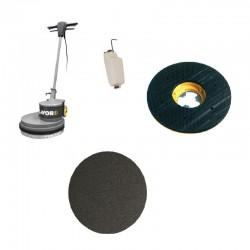 Monodisc SDM-R 45G 16.9-130 LAVOR,  cu disc abraziv GR60 pt curatat podele din lemn,  1300W