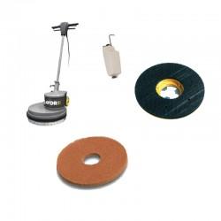 Monodisc SDM-R 45G 16.3-160,  cu pad din microfibra pt curatat podele din ceramica,  marmura,  granit,  mochete,  1600W