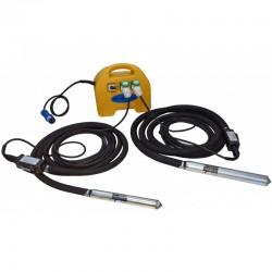 PACHET - 2x Lance vibratoare VS370,  cap vibrare 37mm si convertizor SK1, 5M STRONG,  carcasa ABS,  230V
