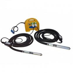 PACHET - 2xLance vibratoare VS600,  cap vibrare 50mm si convertizor SK1, 5M STRONG,  carcasa ABS,  230V