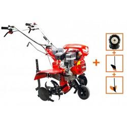 Motocultor Loncin LC850, motor Loncin 7 CP, cu roti de cauciuc, plug si rarita, latime de lucru 90 cm, 5580-02955