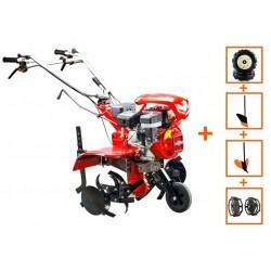 Motocultor Loncin LC850, motor Loncin 7 CP, cu roti de cauciuc, plug, rarita si roti metalice latime de lucru 90 cm, 5580-02956
