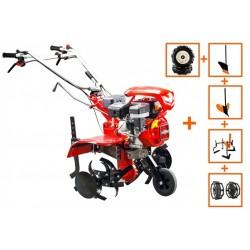 Motocultor Loncin LC850, motor Loncin 7 CP, cu roti cauciuc, plug, rarit prasitoare si roti metalice, latime lucru 90 cm, 5580-02957